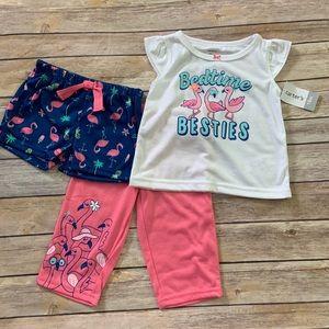 NWT Carter's 3pc Pajama Set